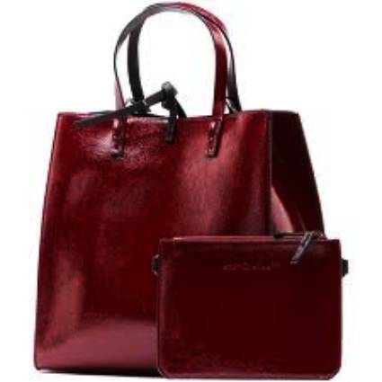 Бордова чанта за жена